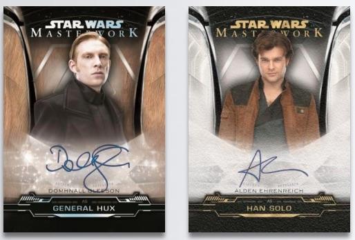 2 Autographs 2019 Topps Star Wars Masterwork Hobby Box 4 Packs Factory Sealed