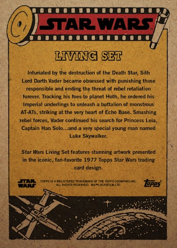 Topps Living Set Star Wars Trading Cards Checklist 2