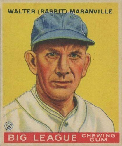 Top 10 Rabbit Maranville Baseball Cards 10