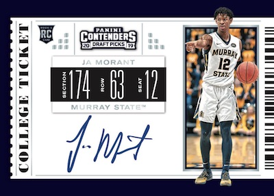 2019-20 Panini Contenders Draft Picks Basketball Cards 4