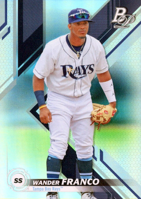 2019 Bowman Platinum Baseball Cards - NBCD Hanger 27