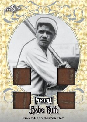 2019 Leaf Metal Babe Ruth Collection Baseball Cards - Special Edition Box 1
