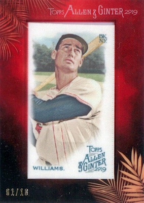 2019 Topps Allen & Ginter Baseball Cards 38