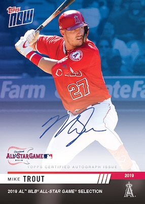 2019 Topps Now MLB All-Star Baseball Cards 2