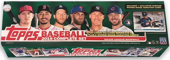 2019 Topps Baseball Complete Factory Set Checklist Boxes