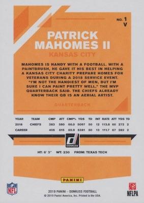 2019 Donruss Football Cards 27