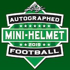 2019 Leaf Autographed Football Mini-Helmet Edition