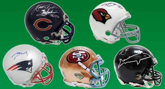 2019 Leaf Autographed Football Mini-Helmet Edition 3