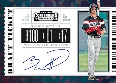 2019 Panini Contenders Draft Picks Baseball Cards 5