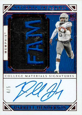 2019 Panini National Treasures Collegiate Football Cards 26