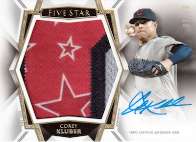 2019 Topps Five Star Baseball Cards 36