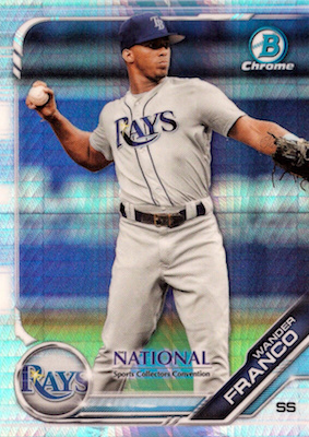 2019 Topps NSCC Bowman Chrome National Convention Cards - Autograph Print Runs 1