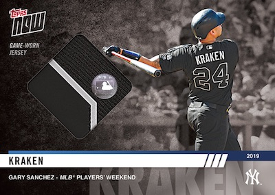 2019 Topps Now MLB Players Weekend Baseball Cards 4