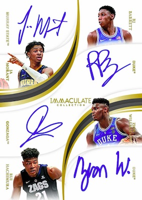 2019-20 Immaculate Collection Collegiate Basketball Cards 6