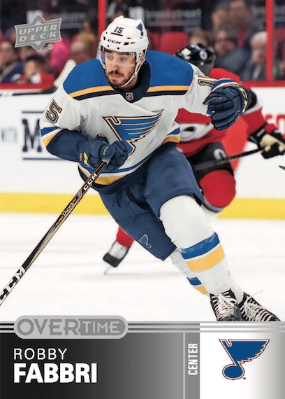 2019-20 Upper Deck Overtime Hockey Cards - Wave 3 Checklist 1