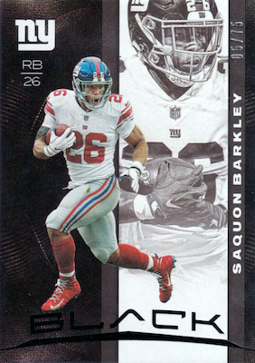 2019 Panini Black Football Cards 28
