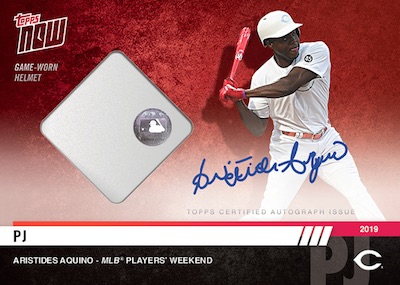 2019 Topps Now MLB Players Weekend Checklist, Relic Info
