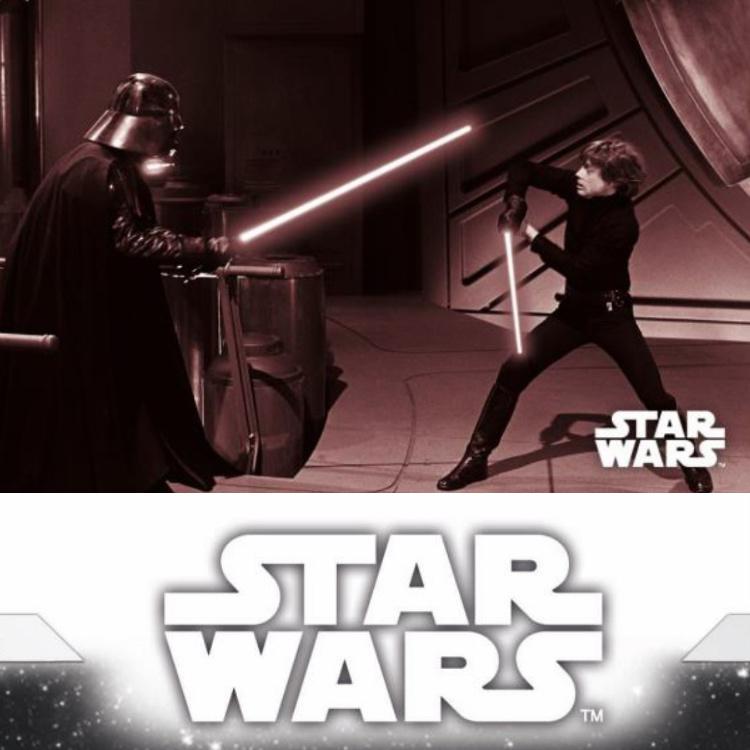 Star Wars RotJ Black /& White Sepia Base Card #94 A Jedi/'s Weapon