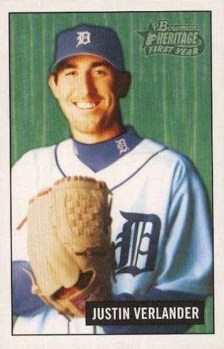 Top Justin Verlander Baseball Cards 3
