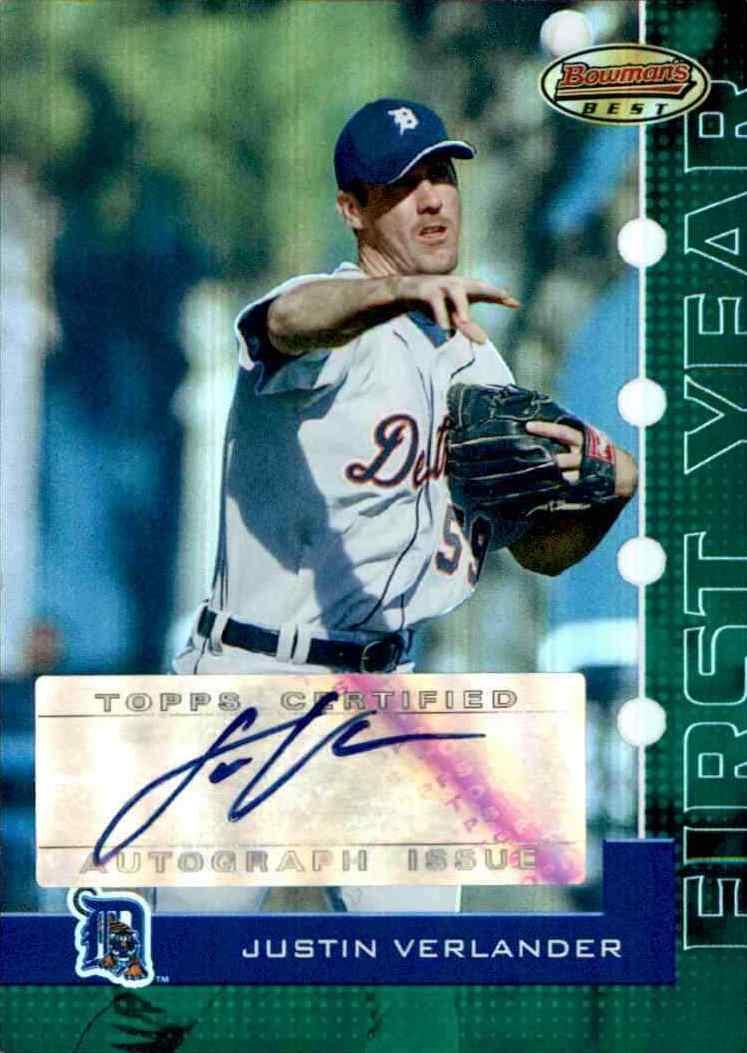 Top Justin Verlander Baseball Cards 4