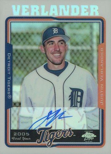 Top Justin Verlander Baseball Cards 9
