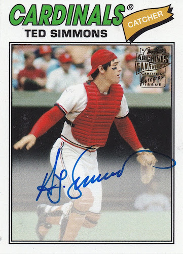Top 10 Ted Simmons Baseball Cards 8