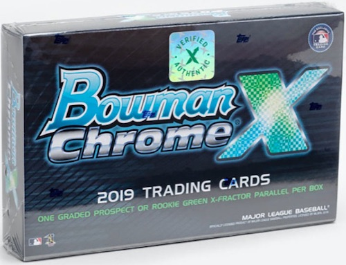 2019 Bowman Chrome X Baseball Cards - IPO Results 3