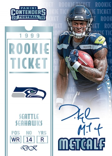 2019 Panini Contenders Football Cards - SP/SSP Ticket Info 6