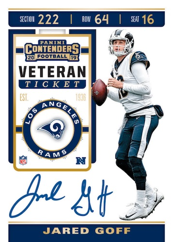 2019 Panini Contenders Football Cards - SP/SSP Ticket Info 7