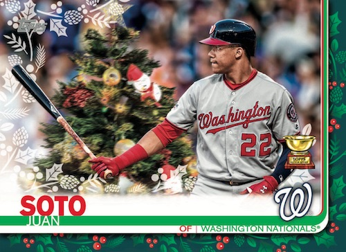 2019 Topps Holiday Baseball Mega Box Cards 3