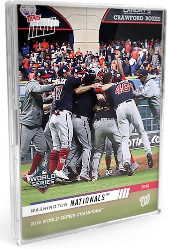 2019 Topps Now Washington Nationals World Series Champions Cards 2