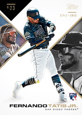 2019 Topps X Tatis Jr. 0.23 Baseball Cards 1