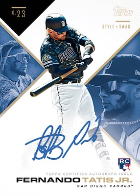 2019 Topps X Tatis Jr. 0.23 Baseball Cards 7