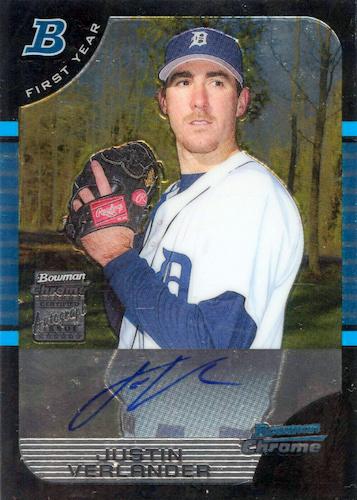 Top Justin Verlander Baseball Cards 10