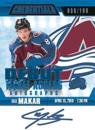 2019-20 Upper Deck Credentials Hockey Cards 8