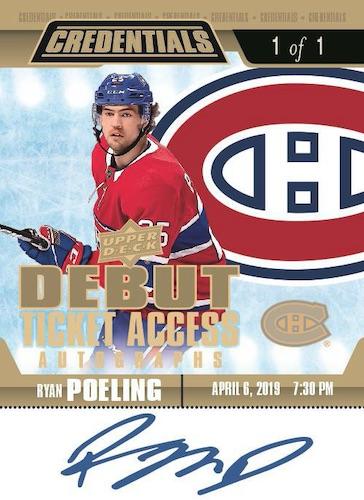 2019-20 Upper Deck Credentials Hockey Cards 10