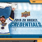 2019-20 Upper Deck Credentials Hockey Cards