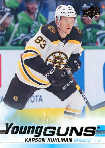 2019-20 Upper Deck Young Guns Rookie Gallery and Checklist 50