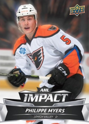 2019-20 UD AHL Hockey #43 Michael DiPietro Utica Comets Official American Hockey League Trading Card by Upper Deck