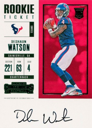 Top Deshaun Watson Rookie Cards to Collect 3
