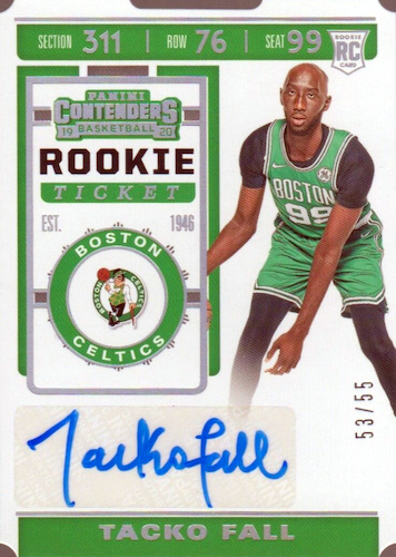 2019-20 Panini Contenders Basketball Cards 34
