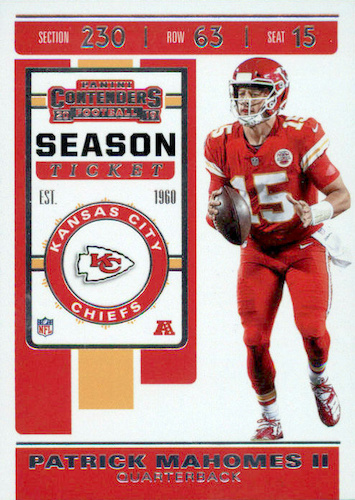 2019 Panini Contenders Football Cards - SP/SSP Ticket Info 27