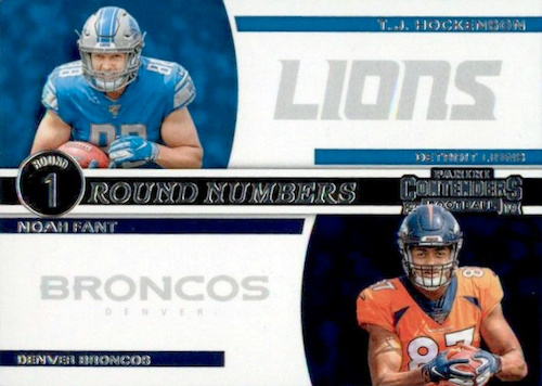2019 Panini Contenders Football Cards - SP/SSP Ticket Info 33