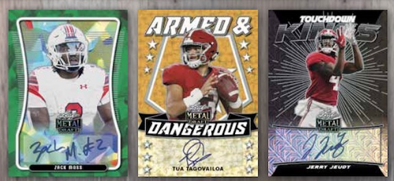 2020 Leaf Metal Draft Football Cards 4