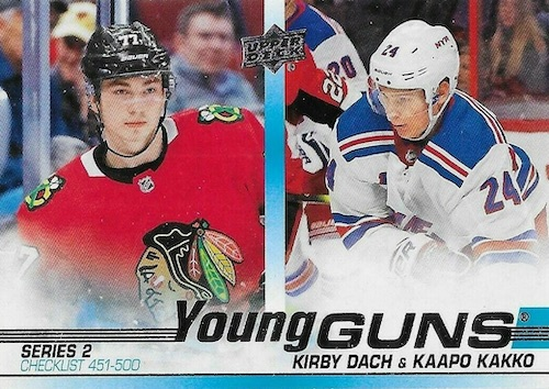 2019-20 Upper Deck Young Guns Rookie Checklist and Gallery 103