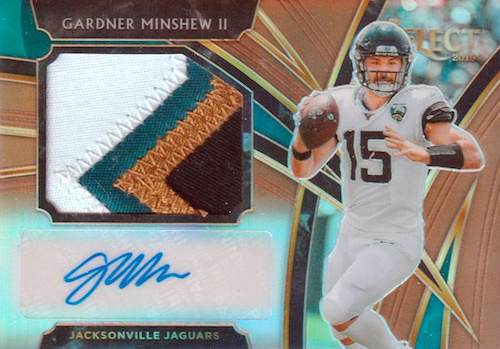 2019 Panini Select Football Cards - XRC Redemption Checklist Added 19