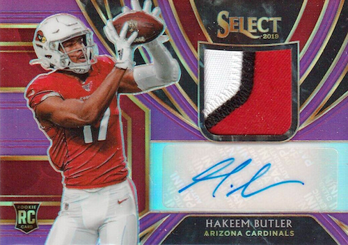 2019 Panini Select Football Cards - XRC Redemption Checklist Added 18