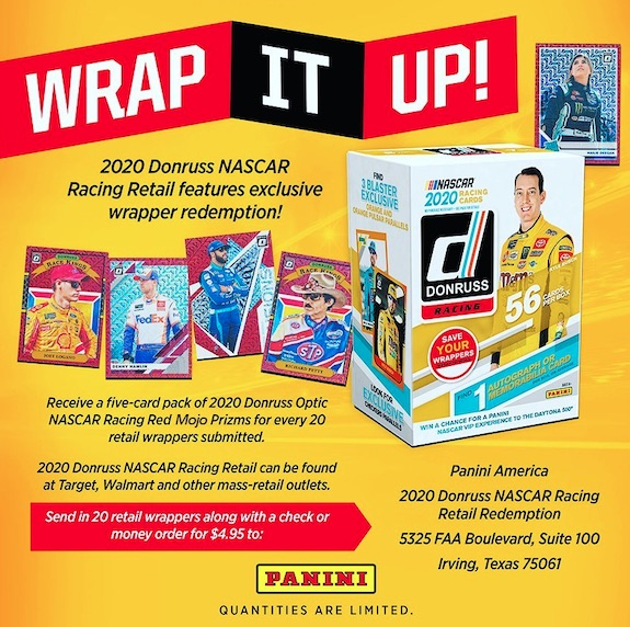 2020 Donruss Racing NASCAR Cards - Retail Wrapper Redemption 3
