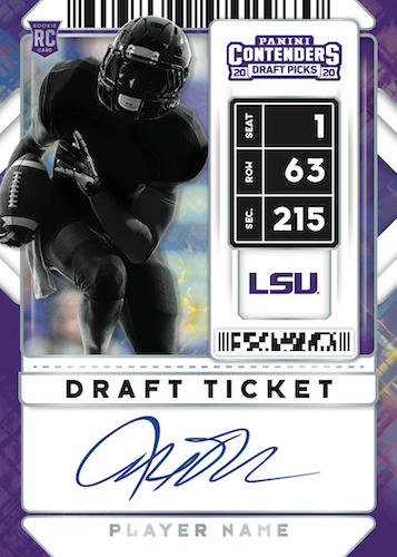 2020 Panini Contenders Draft Picks Football Cards - Checklist Added 6