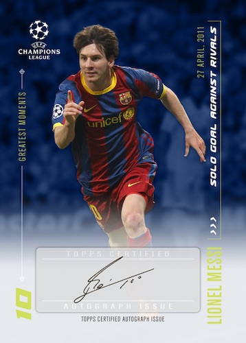 2020 Topps Lionel Messi Champions League Soccer Cards 2
